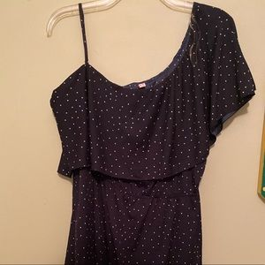Navy with white stars mini dress, 3X